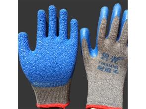 皱纹乳胶手套